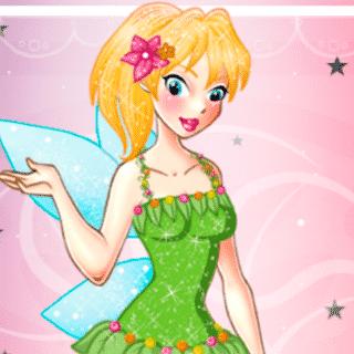 Glitter fairy dressup - Juegos de vestir hadas