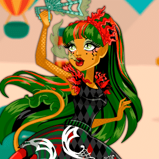 Monster High Jinafire Long Dress Up - Juegos de vestir niñas