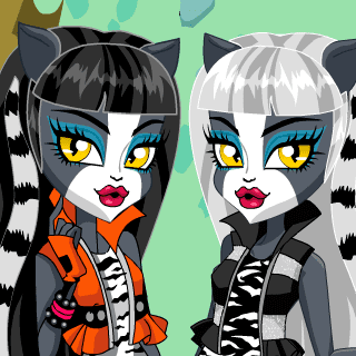 Monster High Werecat Sisters Dress Up - Juegos de vestir emos
