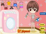 Adorable washing girl - Juegos de vestir princesas