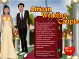 African Wedding Couple - Juegos de vestir sirenas