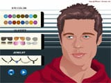 Maquillar y peinar a Brad Pitt