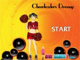 Cheerleader girl dress up - Juegos de vestir y pintar