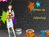 Coloring playroom and dressup - Juegos de vestir sirenas