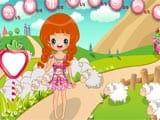 Cute little shepherdess