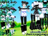 Cute panda dressup game