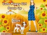 Cute puppy girl dressup