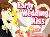 Early Wedding Kiss