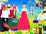 Girl wearing korean costumes - Juegos de vestir y maquillar