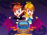 Halloween devil twins - Juegos de vestir wonder woman