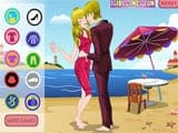 Hot beach kissing - Juegos de vestir en la playa