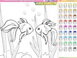 Kid s coloring goldfish