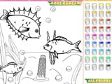 Kid s coloring little fishes