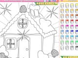 Kid s coloring sweet house - Juegos de vestir wedding lily