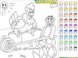 Kid s coloring the friends - Juegos de vestir a Rapunzel