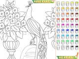 Kid s coloring the peacock - Juegos de vestir y maquillar