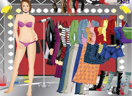 Lindsay Lohan dress up - Juegos de vestir hermanas