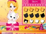 Pet kitty in gift box - Juegos de vestir princesas
