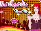 Red carpet star dress up - Juegos de vestir y maquillar