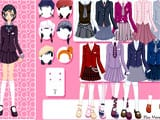 School uniform dress up - Juegos de vestir y maquillar