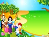 Snow white and the seven dwarfs decorate - Juegos de vestir emos