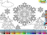 Snowflakes coloring game