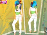 Tattoo mirror dress up - Juegos de vestir princesas