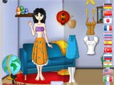Traditional clothes dressup