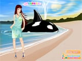 At the beach dress up - Juegos de vestir en la playa