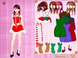 Colorful christmas dress up - Juegos de vestir y maquillar