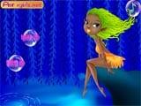 Fair blue lake fairy